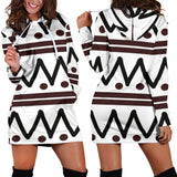 Black and White Festival Hoodie Dress -Music Festival Essentials-1StopFestyShop.com