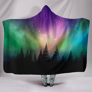 Northern Lights Hooded Blanket -Music Festival Essentials-1StopFestyShop.com