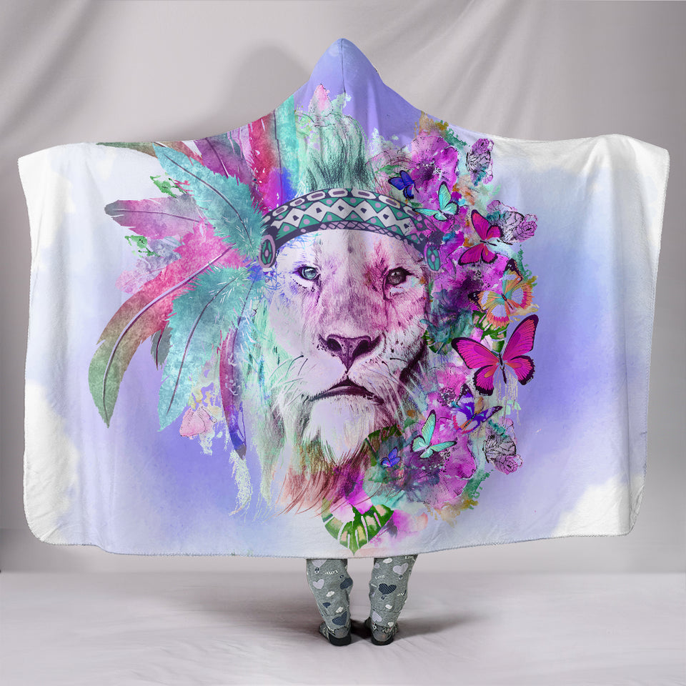1Stop Festy Supply Shop  Hippie Lion Hooded Blanket