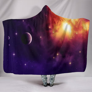 1Stop Festy Supply Shop  Hooded Blanket - Galaxy