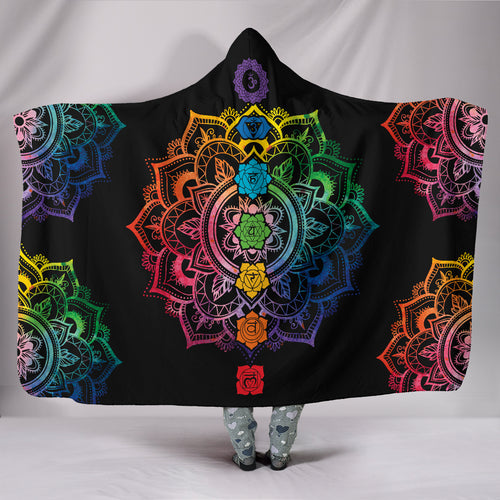 1Stop Festy Supply Shop  Chakra Mandala Hoodie Blanket