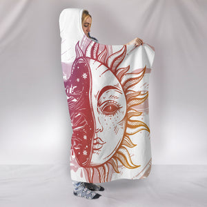 Moon Crescent and Sun Hooded Blanket -Music Festival Essentials-1StopFestyShop.com