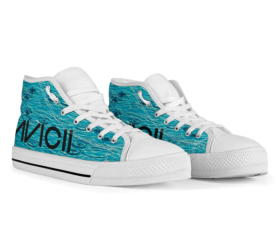 Avicii Raindrop High Top Shoes -Music Festival Essentials-1StopFestyShop.com