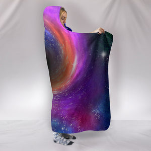 Black Hole Hooded Blanket -Music Festival Essentials-1StopFestyShop.com