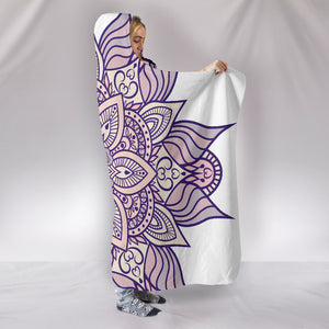 HandCrafted Lotus Mandala Hooded Blanket -Music Festival Essentials-1StopFestyShop.com