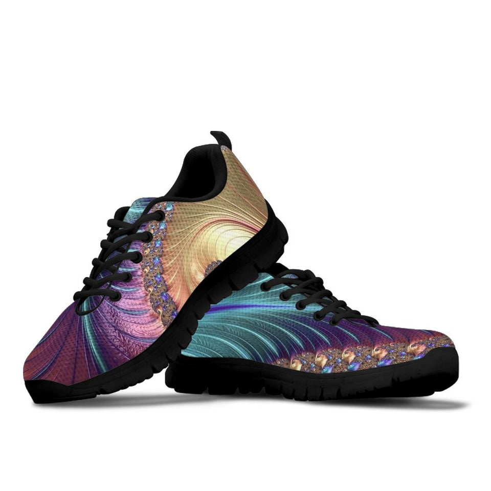 Peacock Feather Festival Sneaker Shoes -Music Festival Essentials-1StopFestyShop.com