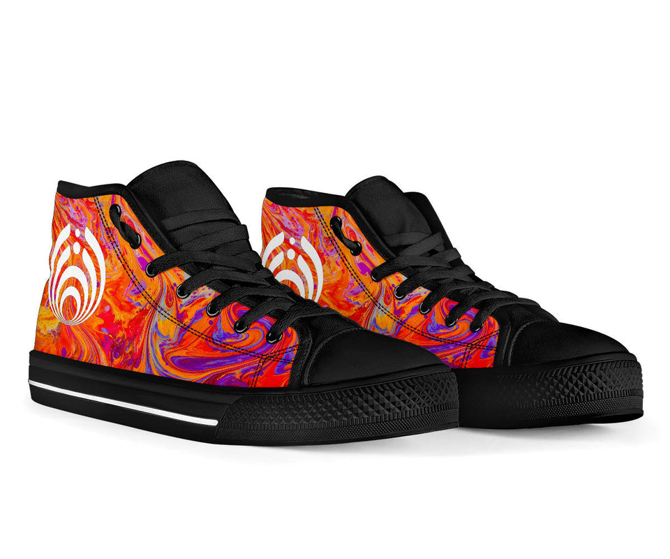 Bassnectar Swirl High Top Shoes -Music Festival Essentials-1StopFestyShop.com