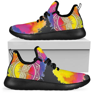 Watercolor Dragonfly Mandala Sneaker Shoes -Music Festival Essentials-1StopFestyShop.com