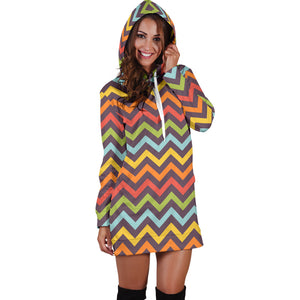 1Stop Festy Supply Shop  Bright Chevron Festival Hoodie Dress