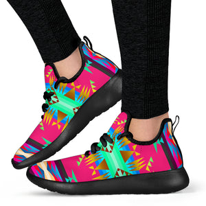 Between the Mountains Sky Mesh Sneaker Shoes -Music Festival Essentials-1StopFestyShop.com