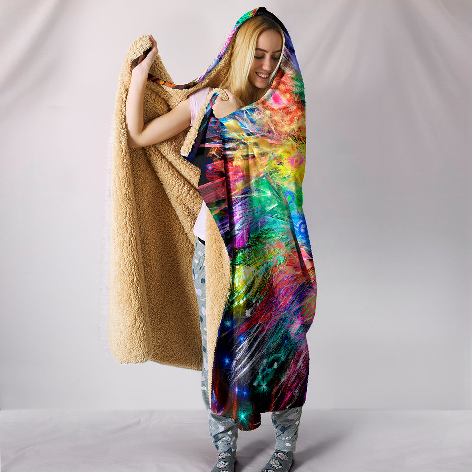Peacock Nexsus Hooded Blanket -Music Festival Essentials-1StopFestyShop.com