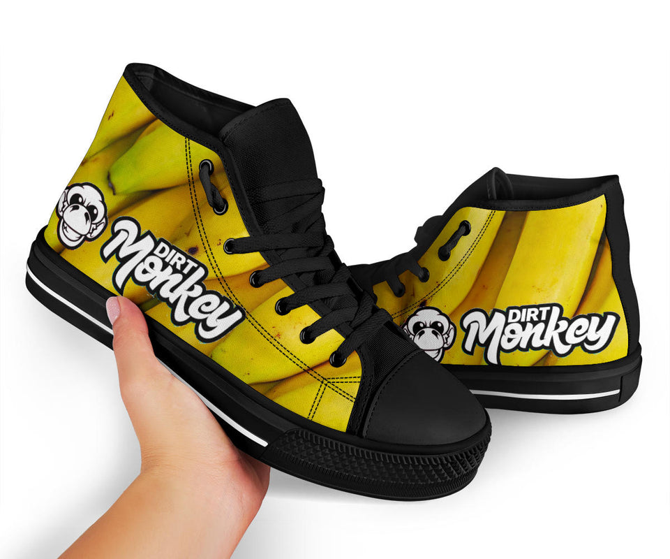 Dirt Monkey Banana High Top Shoes - 1Stop Festy Supply Shop