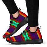 Mountains Purple Red Mesh Knit Sneakers -Music Festival Essentials-1StopFestyShop.com