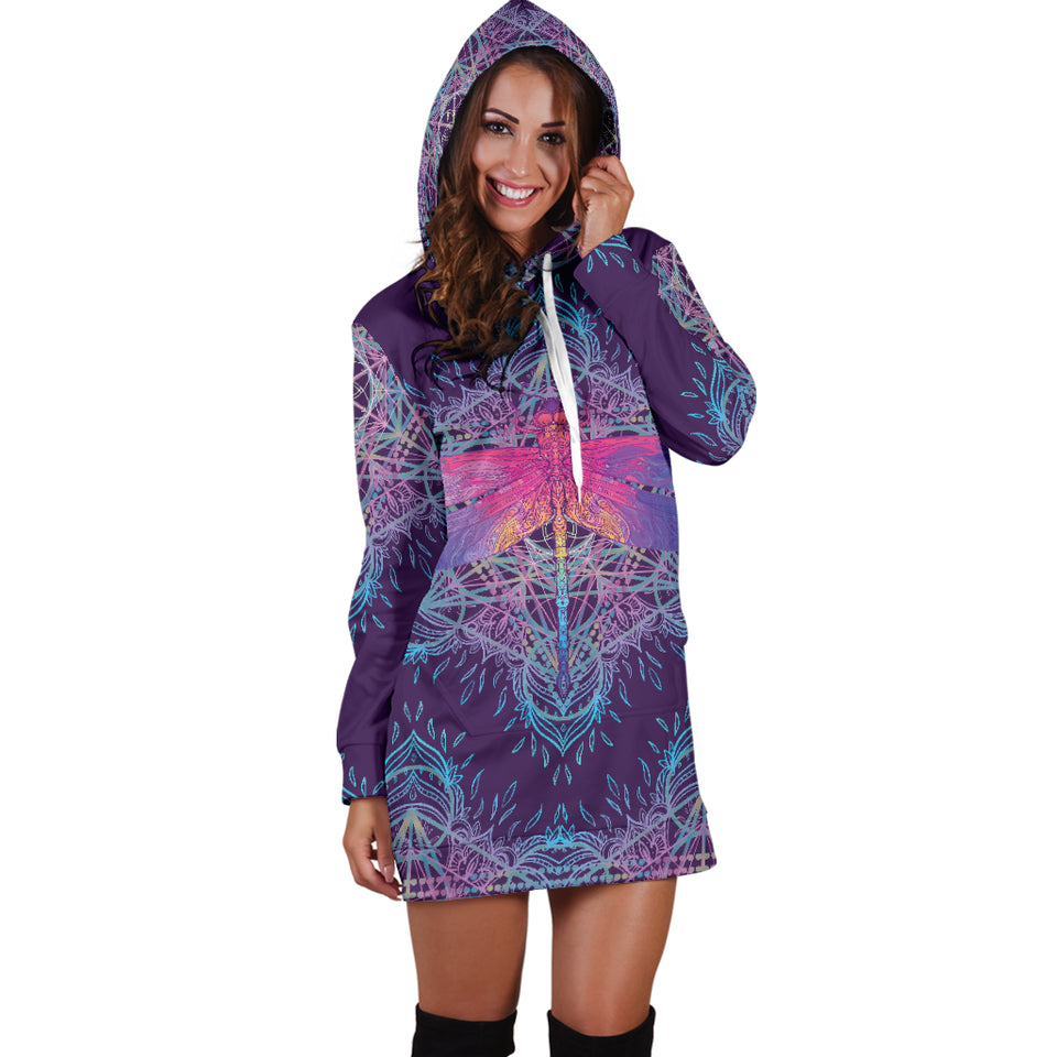 1Stop Festy Supply Shop  Dragonfly Mandala Festival Hoodie Dress