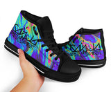 Ganja White Night High Top Shoes -Music Festival Essentials-1StopFestyShop.com