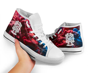 Griz Purple Clouds High Top Shoes -Music Festival Essentials-1StopFestyShop.com