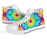 Rainbow Tie Dye High Top Sneaker Shoes -Music Festival Essentials-1StopFestyShop.com