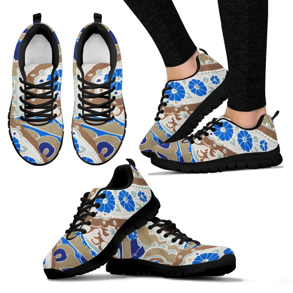 1Stop Festy Supply Shop  Blue Paisley Festival Sneaker Shoes