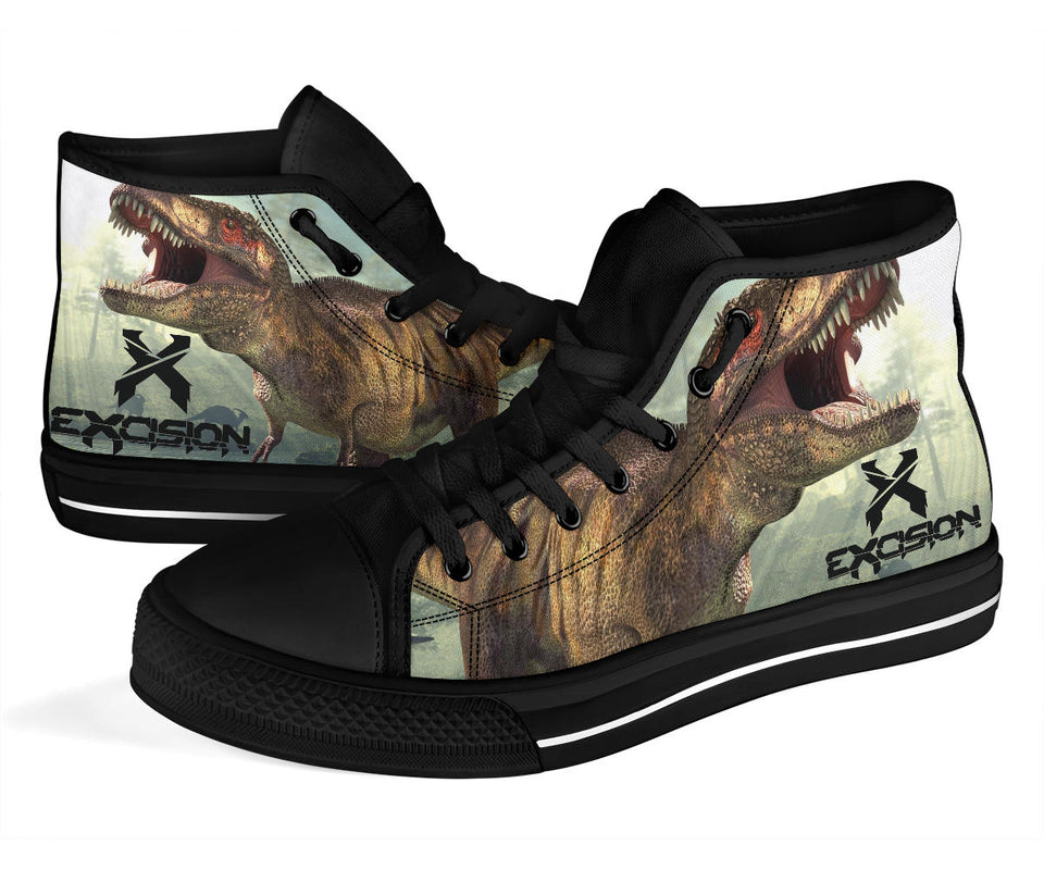1Stop Festy Supply Shop  Excision Dinosaur Festival High Top Shoes