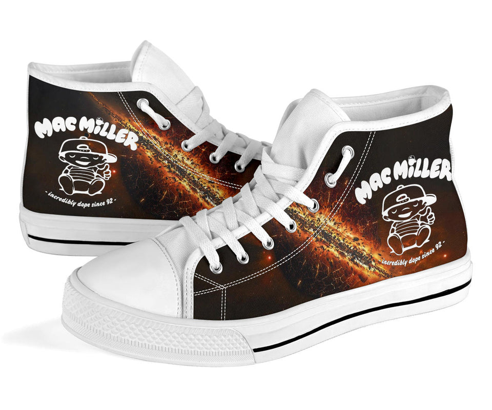 1Stop Festy Supply Shop  Mac Miller Milky Way High Top Shoes