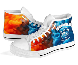 Mac Miller Fire And Ice High Top Shoes -Music Festival Essentials-1StopFestyShop.com