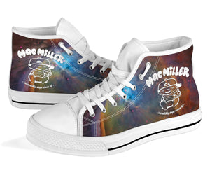 Mac Miller Galaxy High Top Shoes -Music Festival Essentials-1StopFestyShop.com