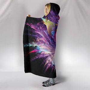 Psychedelic Alien Flower Hooded Blanket -Music Festival Essentials-1StopFestyShop.com