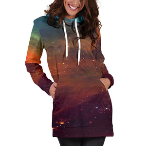 Universe Galaxy Festival Hoodie Dress -Music Festival Essentials-1StopFestyShop.com