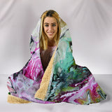 ABSTRACT HOODED BLANKET -Music Festival Essentials-1StopFestyShop.com