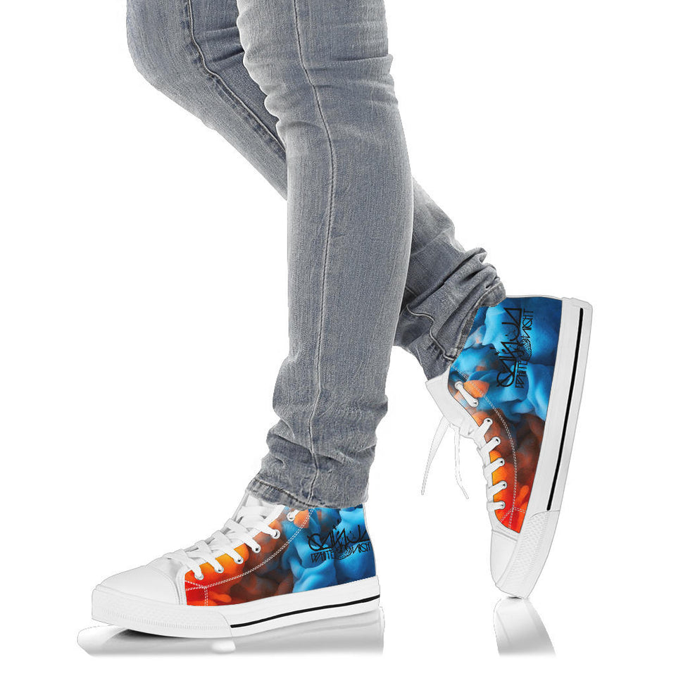 Ganja White Night High Top Shoes - 1Stop Festy Supply Shop