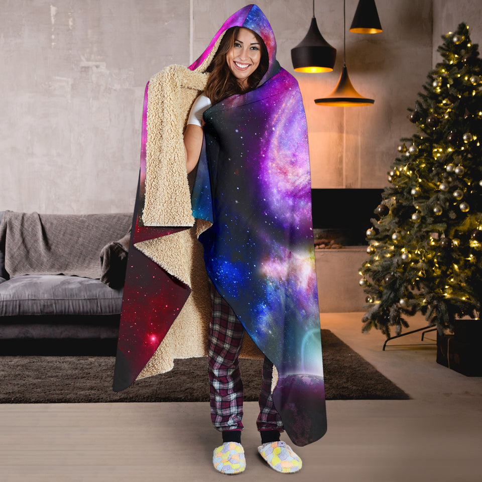 Cosmos Hooded Blanket -Music Festival Essentials-1StopFestyShop.com