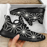 1Stop Festy Supply Shop  Geometric Black Sneaker Shoes