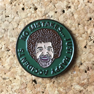 Bob Ross No Mistakes Hat Pin -Music Festival Essentials-1StopFestyShop.com