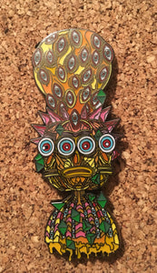 Rick and Morty Trippy Tiki Hat Pin -Music Festival Essentials-1StopFestyShop.com