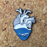 1Stop Festy Supply Shop  Ocean Heart Hat Pin