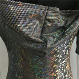 1Stop Festy Supply Shop  Festival Rave Bodysuit Holographic Outfit