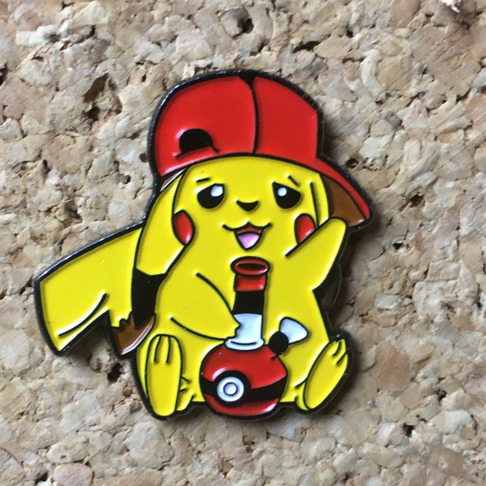 Pikachu Smoking Pokemon Hat Pin -Music Festival Essentials-1StopFestyShop.com