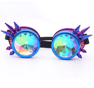 Blue Kaleidoscope Diffraction Goggles - 1Stop Festy Supply Shop