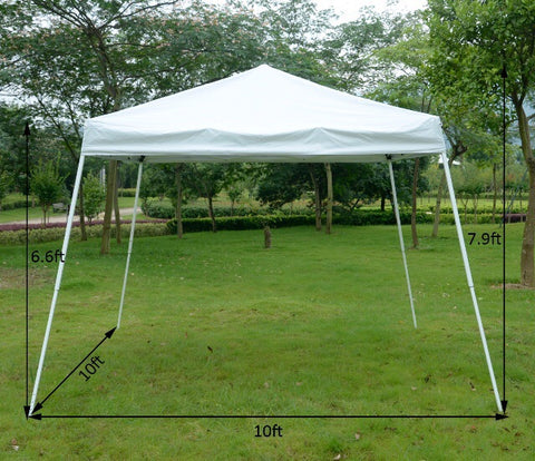 White EZ UP Canopy 10x10 -Music Festival Essentials-1StopFestyShop.com