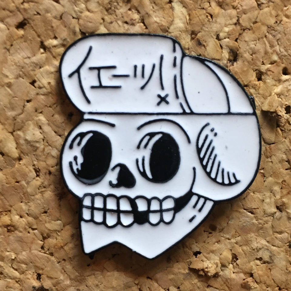 Black and White Skull Hat Pin - 1Stop Festy Supply Shop