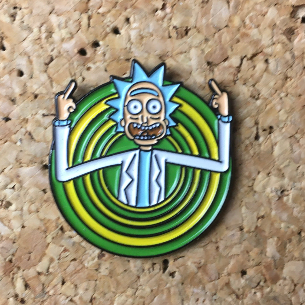 1Stop Festy Supply Shop  Ricky and Morty Portal Hat Pin