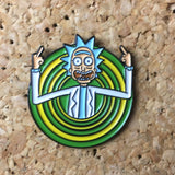 Ricky and Morty Portal Hat Pin -Music Festival Essentials-1StopFestyShop.com