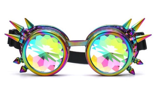 Holographic Kaleidoscope Diffraction Goggles - 1Stop Festy Supply Shop