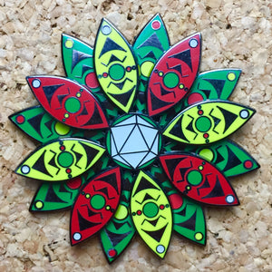 Odesza Lotus Spinner Hat Pin -Music Festival Essentials-1StopFestyShop.com