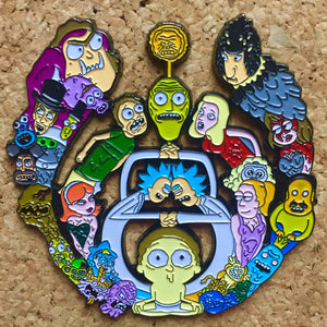 Rick and Morty Large Bassdrop Hat Pin - 1Stop Festy Supply Shop