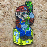 1Stop Festy Supply Shop  Smoking Mario Tipper Box Hat Pin
