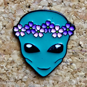 Alien Flower Crown Headband Hat Pin -Music Festival Essentials-1StopFestyShop.com
