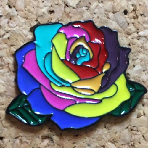 Rainbow Rose Bulb Hat Pin -Music Festival Essentials-1StopFestyShop.com