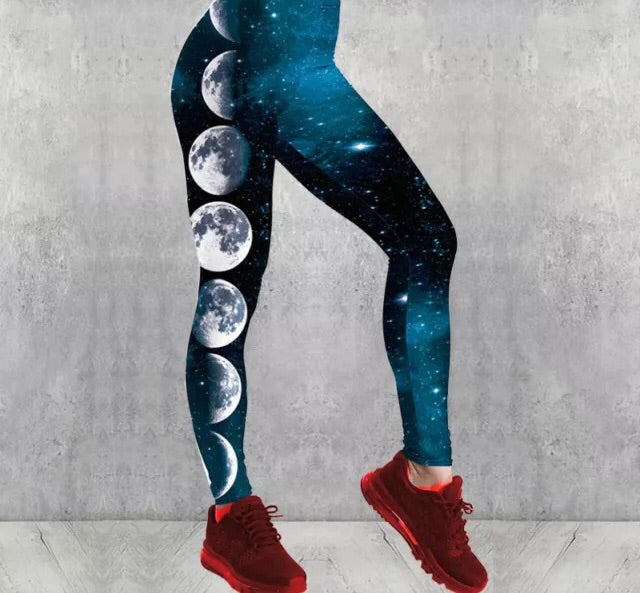 Moon Phases Leggings - 1Stop Festy Supply Shop
