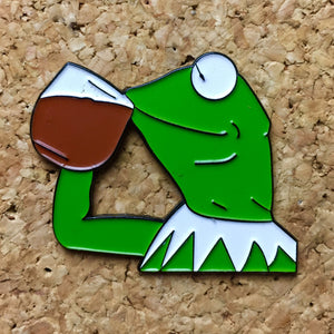 Kermit The Frog 🐸 Tea Hat Pin -Music Festival Essentials-1StopFestyShop.com